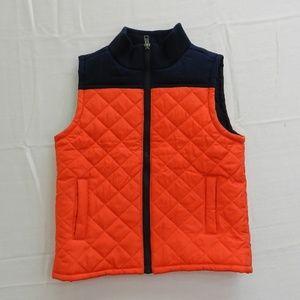 Boys Size 4T Gymboree Puffer Vest Orange Blue